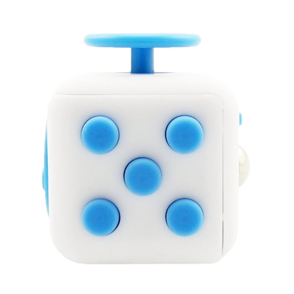White and Blue Fidget Cube Tap Buttons; Buy the best quality fidget cubes available in India; Best price guaranteed