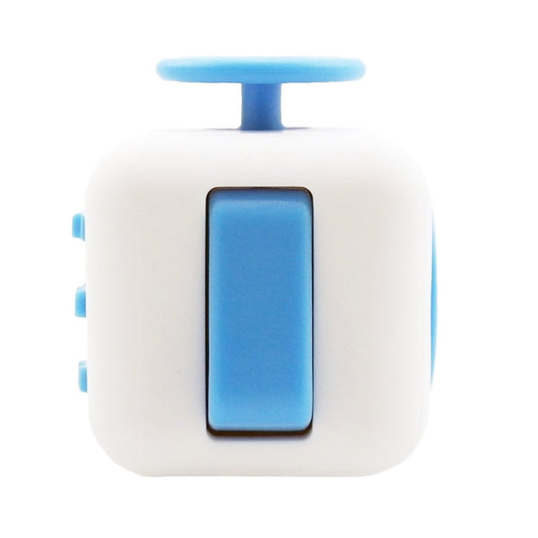 White and Blue Fidget Cube Flip Button; Buy the best quality fidget cubes available in India; Best price guaranteed