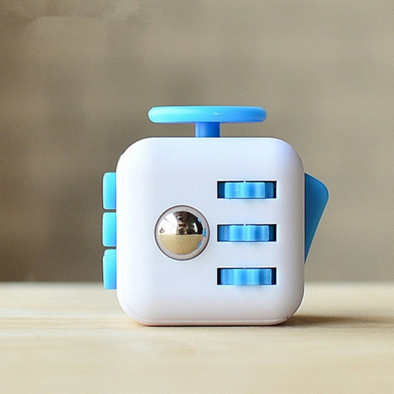 White and Blue Fidget Cube; Buy the best quality fidget cubes available in India; Best price guaranteed