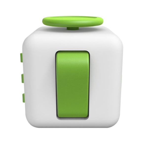 White and Green Fidget Cube Flip Button; Buy the best quality fidget cubes available in India; Best price guaranteed