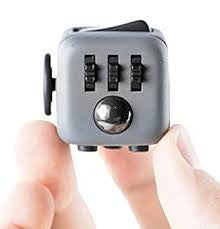 Grey and Black Fidget Cube Gears and Ball Button; Buy the best quality fidget cubes available in India; Best price guaranteed