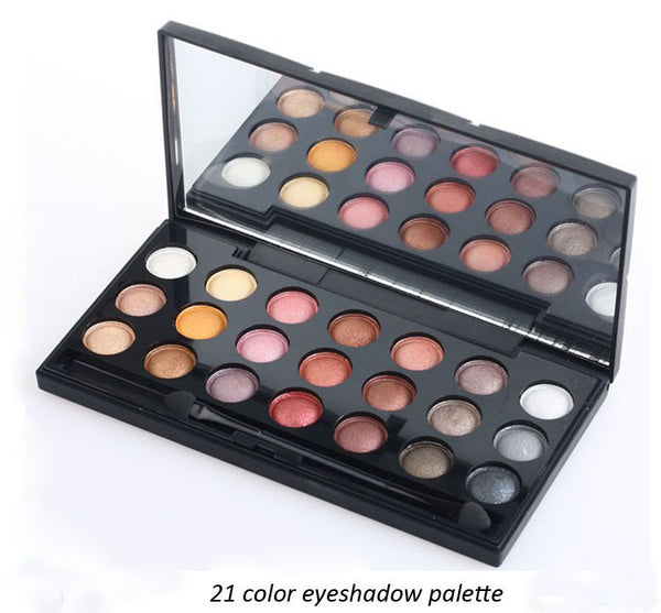 Eyeshadows 21 Colour Palette Cosmetics Makeup: Perfect Christmas Gift! RRP: £26.99 - Nur76
