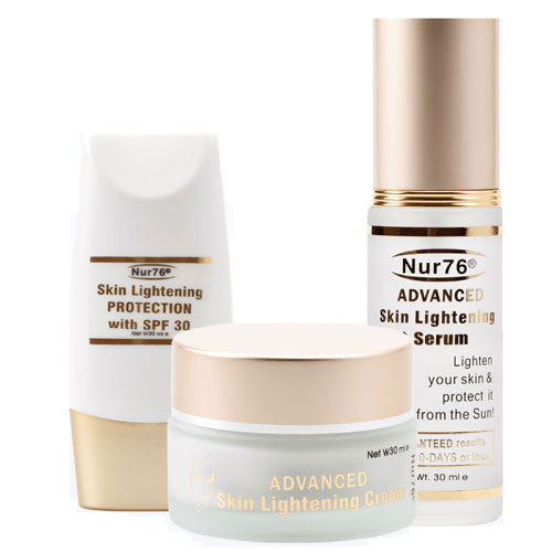Nur76 Advanced Skin Lightening 3 in 1 for Face - 30ml x 3