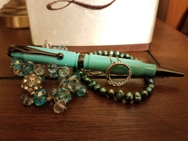 308 Tiffany Blue Powder Coated Pen