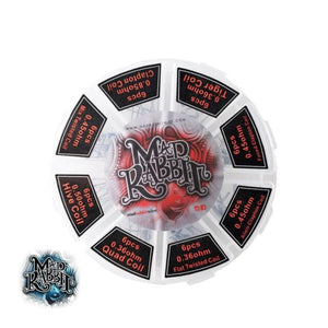 Mad Rabbit Pre-Made Coil Wheels, Kanthal, 48 Pack - Kure Vapes