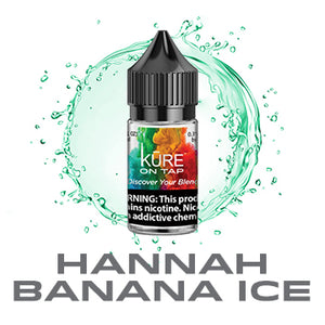 Hannah Banana Ice- Salt On Tap Prime - Kure Vapes