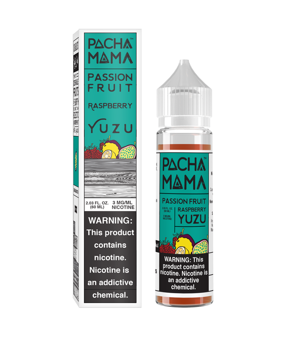 Pachamama Passion Fruit Raspberry Yuzu - 60ML - Kure Vapes