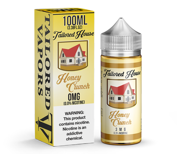 Tailored Vapors Honey Crunch - 100ML - Kure Vapes