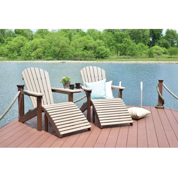 Berlin Garden Adirondack Set - 2 Chairs, 2 Footstools and Connection Plate BGPATC2400ATAT1823PAFS2400
