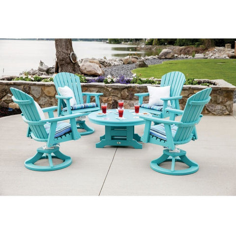 "Berlin Garden Adirondack Set 4 Swivel Rocking Chairs and 38"" Round Chat Table BGESDC2127PRCT0018"