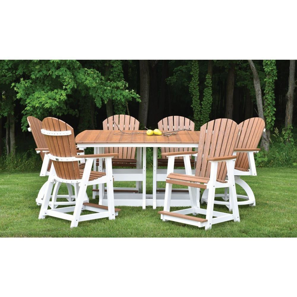 Berlin Gardens 44x72 7pc Counter Height Dining Set BGPECC2131ESCC2131GCIT4472C