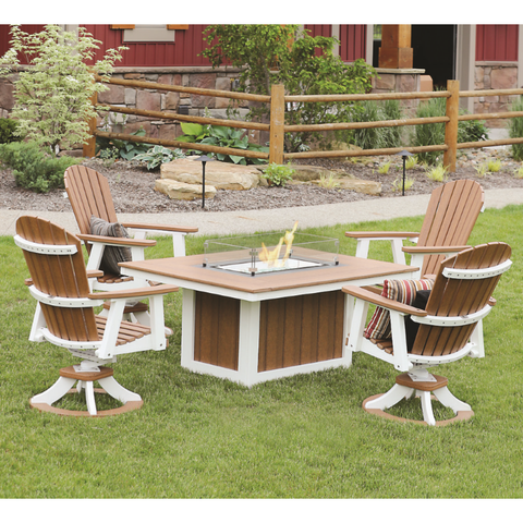 Berlin Gardens Adirondack 5pc Fire Pit Chat Set