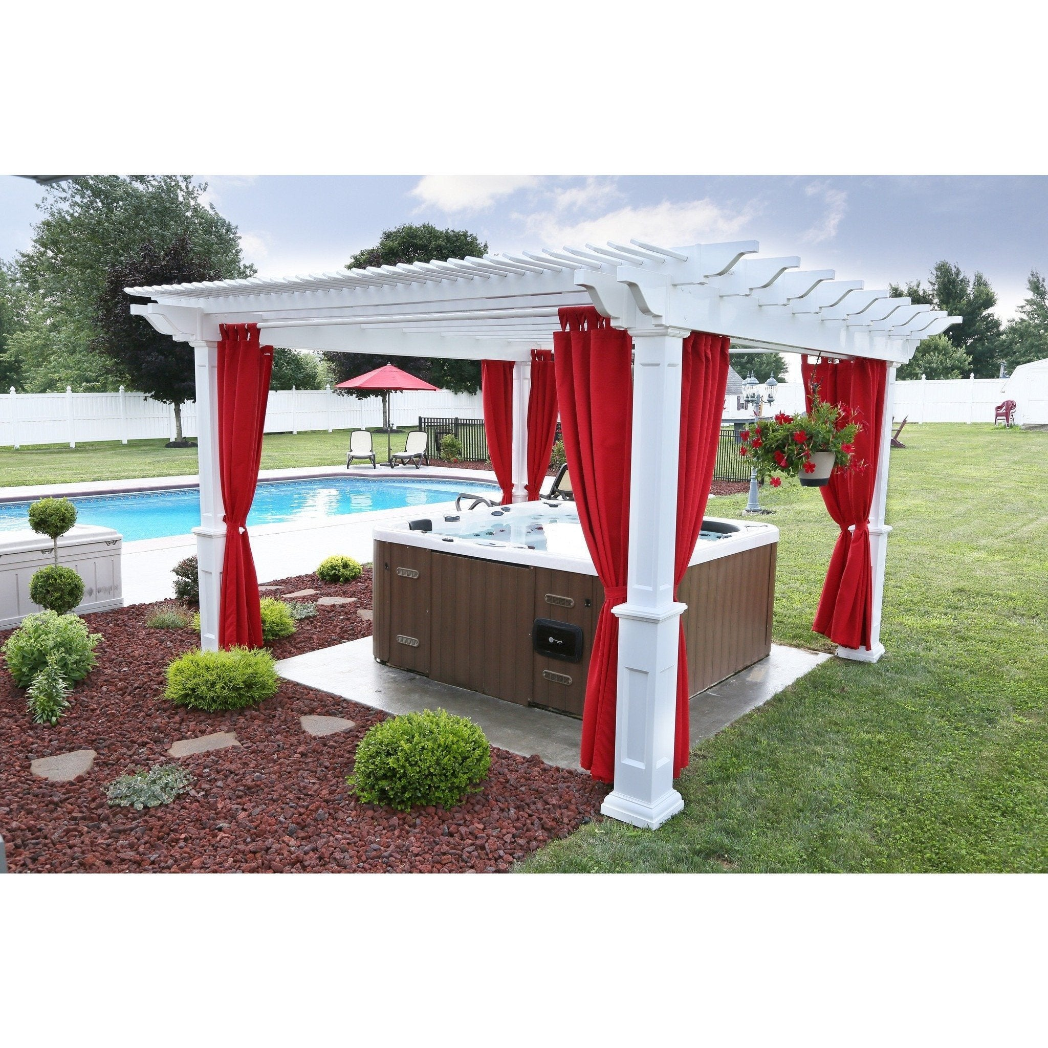 Berlin Gardens Urbana Vinyl Pergola Collection 14 X 14