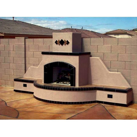 Kokomo Grills Santa Fe Fireplace-straight KOKOG:STANDARDSANTAFEFIREPLACESTRAIGHT