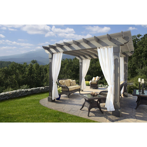 Outback Wood Pergola Collection with Grandfather Posts - 12' x 12 BG:OUTBACKGRAND1212
