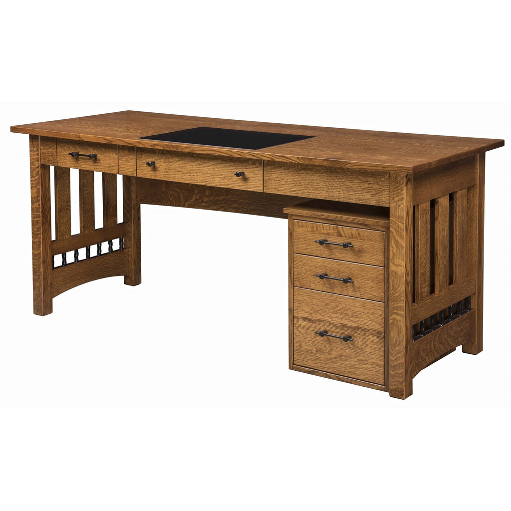 "QW Amish Carmen 72"" Writing Desk with Optional File"