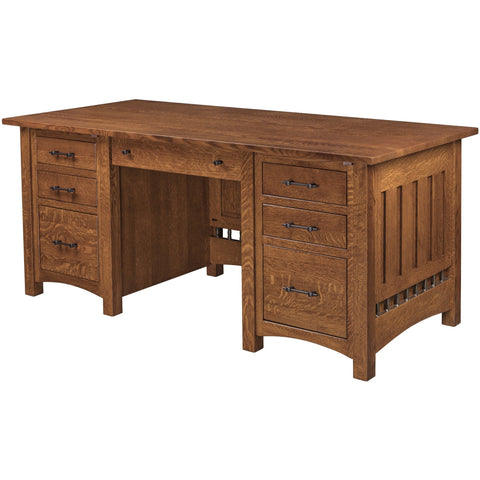 QW Amish Carmen Executive Desk