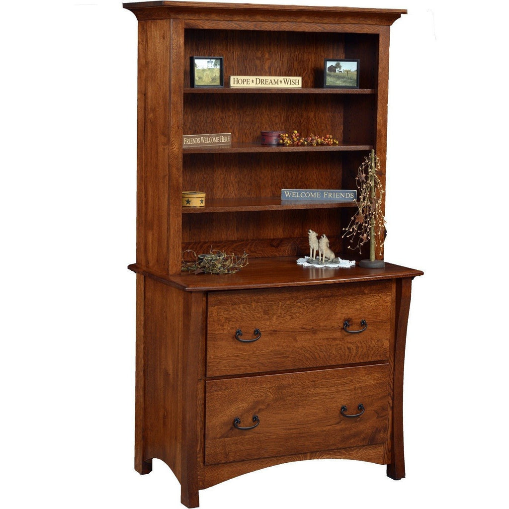QW Amish Master Collection 2 Drawer with Bookcase ALWO-MTR-4072