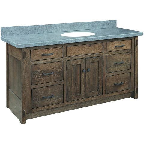 "QW Amish McCoy 58"" Vanity (top not included)"