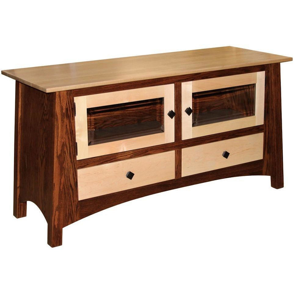 QW Amish McCoy Enclosed TV Stand 2 Drawers, 2 Doors MCE2148