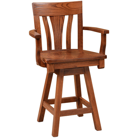 QW Amish Metro Arm Swivel Bar Chair