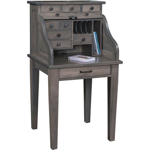 "QW Amish Mission 28"" Roll-Top Desk"