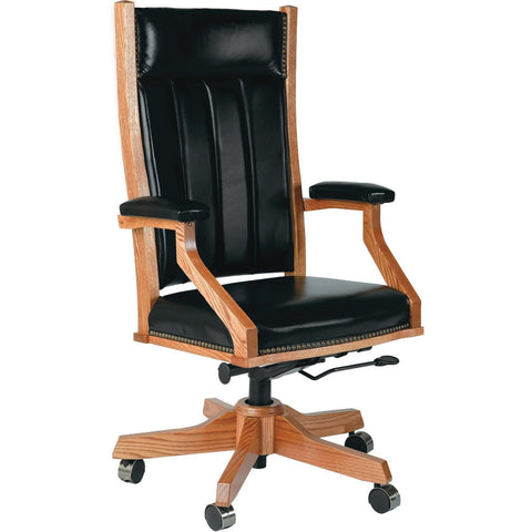 QW Amish Mission Desk Chair (with gas lift) BUPE-MDC255