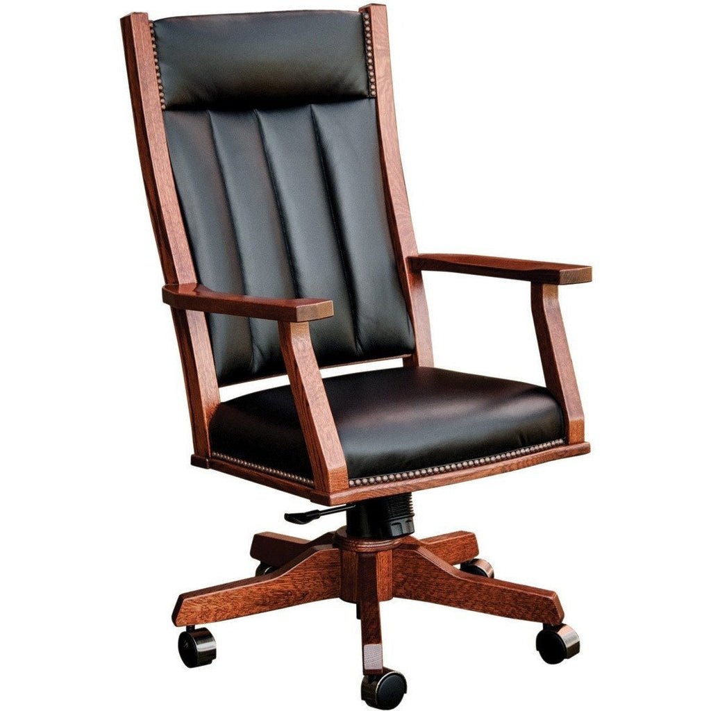 QW Amish Mission Office Chair (with gas lift) BUPE-MOC250