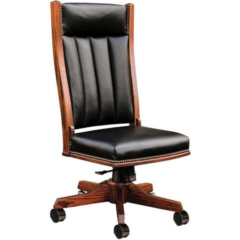 QW Amish Mission Side Desk Chair (with gas lift) BUPE-MSC260