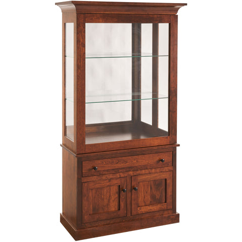 QW Amish Mission Sliding Door Curio