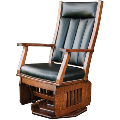 QW Amish Mission Swivel Glider with platform base BUPE-MSPG247