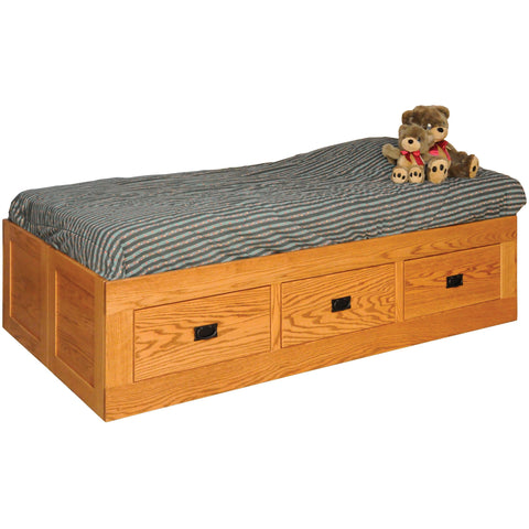 QW Amish Mission Youth Storage Bed