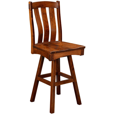 QW Amish Monarch Swivel Bar Chair