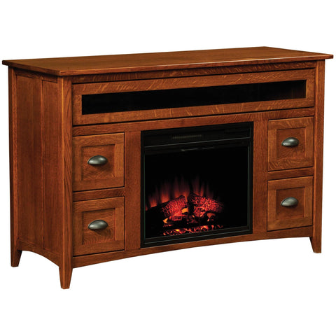QW Amish Monroe Fireplace Entertainment Center CPOR-MONFP-23-MDC