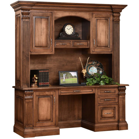 QW Amish Montereau Office Credenza & Hutch DWIC-MON16031612