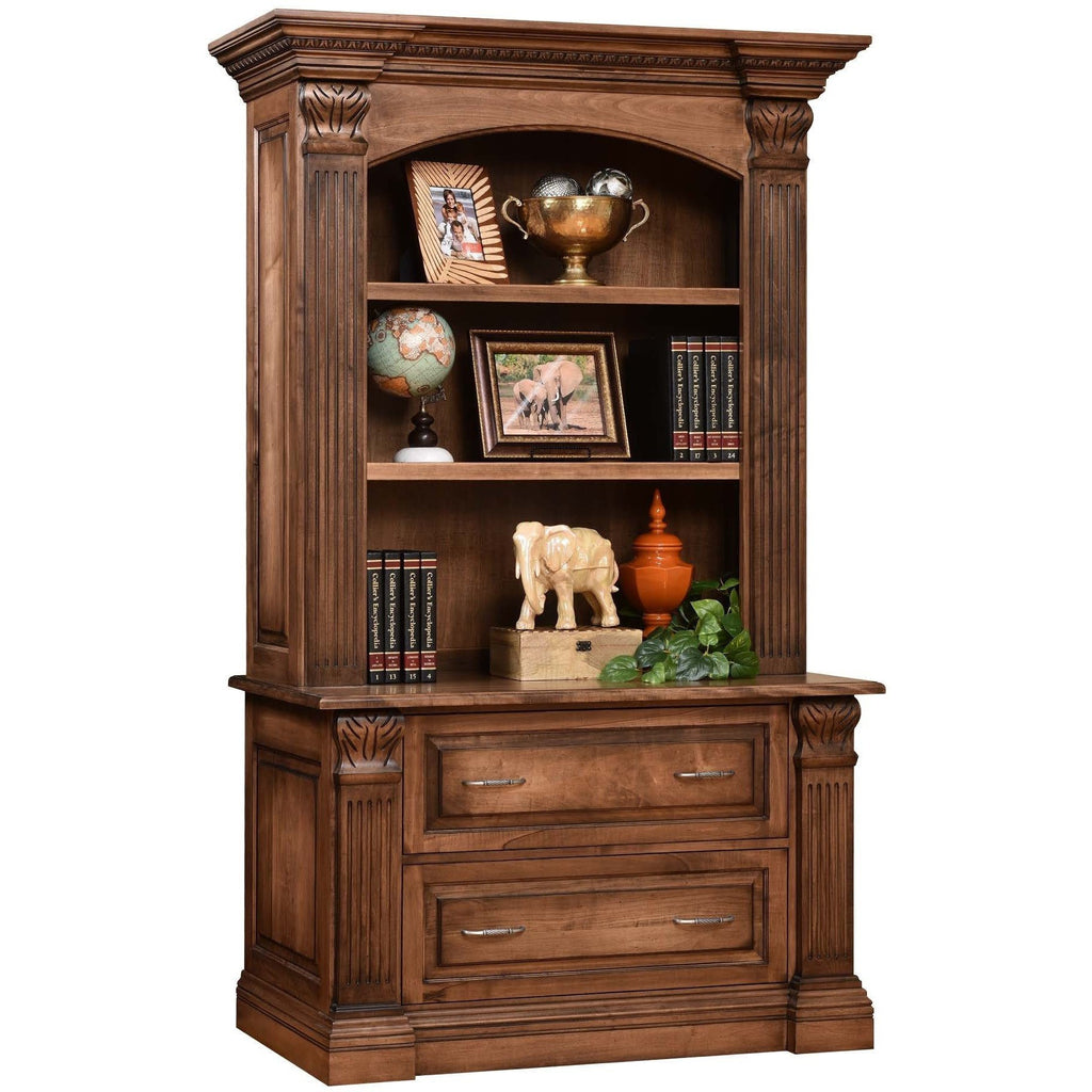 QW Amish Montereau Office Lateral File & Bookshelf DWIC-MON16041613