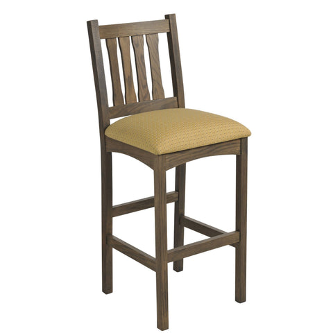 QW Amish Monterey Bar Chair with Padded Seat