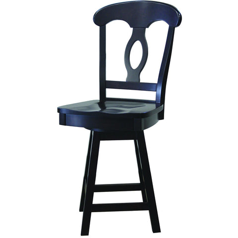 QW Amish Napoleon Side Swivel Barstool OGYA-7024 HIGH