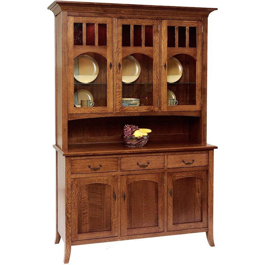 QW Amish Old World Collection 3 Door Hutch QXIP-OW59LD
