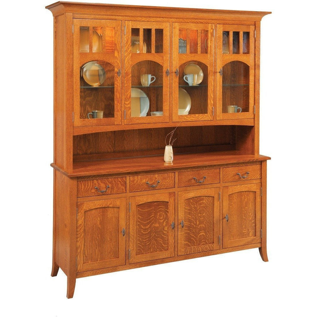 QW Amish Old World Collection 4 Door Hutch QXIP-OW76LD