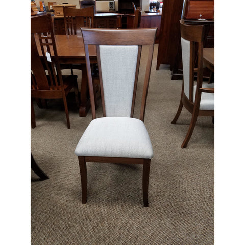 QW Amish OW Shaker with Fabric Back Side Chair OGYA-80FBSSIDE