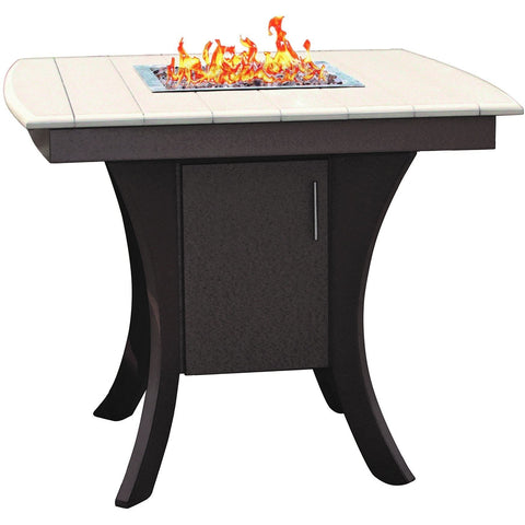 QW Amish Paradise Pub Fire Table OPST-PARADISE42x42x36