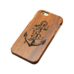 Anchor Wood Cell Phone Case For iPhone Samsung Models