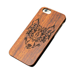 Wolf Wood Cell Phone Case For iPhone Samsung Models