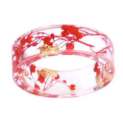 Dried Flower Transparent Ring