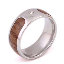 Amazique Wood Grain Retro Design Mens Ring
