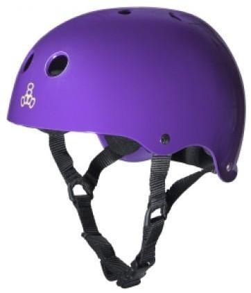 Triple 8 Brainsaver Helmet Purple Gloss
