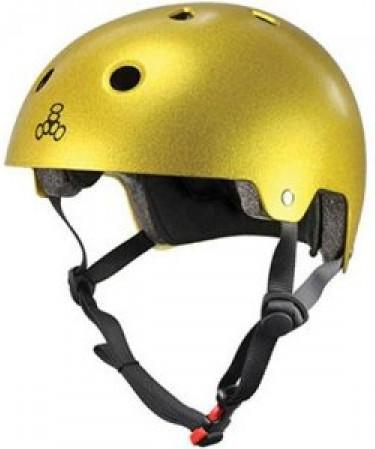 Triple 8 Certified Helmet Gold Flake