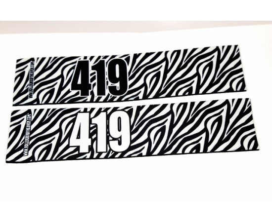 Number Arm Bands Deluxe- Zebra