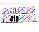 Number Arm Bands Deluxe- Mini Polka Dots